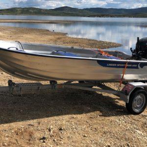 Utleie aluminiums båt 4m med 20HK 4 takts Suzuki 2017